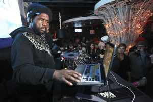 12/26/2011 BOSTON, MA Questlove of the Roots DJ's at District in Boston. (Aram Boghosian for The Boston Globe)
